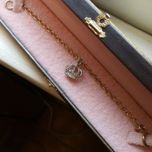 NIB Juicy Couture Crown Charm Wish Bracelet